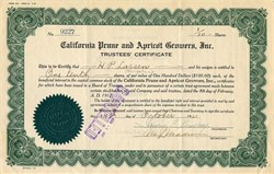 California Prune and Apricot Growers, Inc. - California 1921