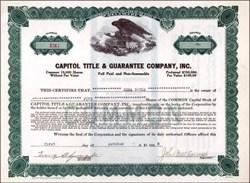 Capitol Title & Guarantee Company, Inc. 1928
