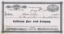 California Pure Food Company - San Francisco, California 1895
