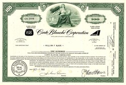 Carte Blanche Corporation (Now Citicorp)  - Credit Card Company