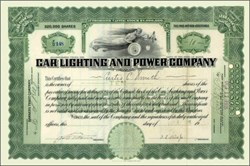 Car Lighting and Power Company 1915