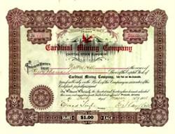 Cardinal Mining Company 1908 - Arizona