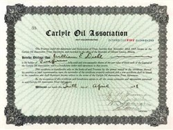 Carlyle Oil Association - Clinton County, Illinois 1918