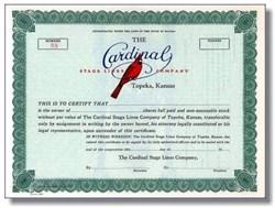 Cardinal Stage Lines Company - Topeka, Kansas - Beautiful Cardinal Vignette
