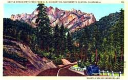 Castle Crags State Park Sacramento Canyon, California Postcard