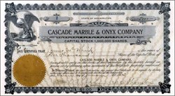 Cascade Marble & Onyx Company 1903 - Washington State