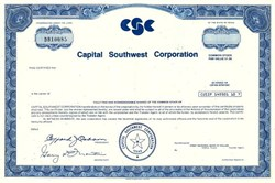 Capital Southwest Corporation - Texas