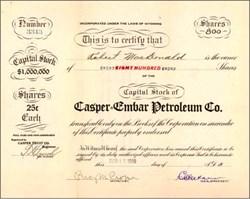 Casper Embar Petroleum Co. 1918 - Wyoming