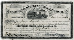 California Street Cable Railroad Company - 1886 ( Early San Francisco Cable Car )