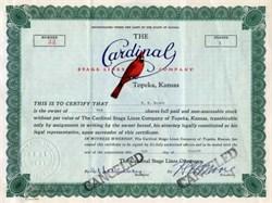 Cardinal Stage Lines Company, Kansas 1934