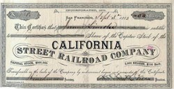 California Street Railroad Company - San Francisco, California - 1883