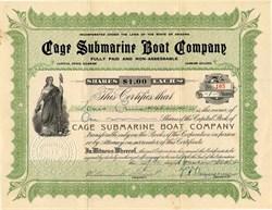 Cage Submarine Boat Company - Arizona 1914