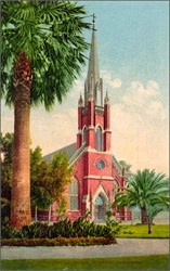 Catholic Church, Stockton, California Postcard