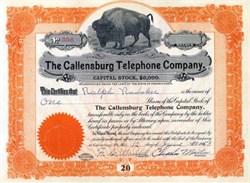 Callensburg Telephone Company - Buffalo Vignette  Pennsylvania 1953