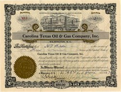 Carolina Texas Oil & Gas Company, Inc. - Wilmington, North Carolina 1926