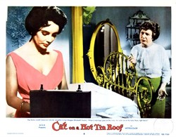 Cat on a Hot Tin Roof Lobby Card Starring Elizabeth Taylor and Paul Newman - 1958