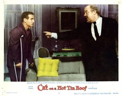 Cat on a Hot Tin Roof Lobby Card Starring Burt Ives and Paul Newman - 1958