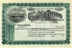 Camden & Trenton Railway Company - New Jersey 1900