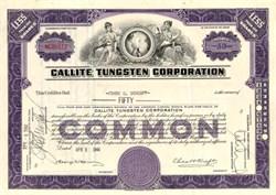 Callite Tungsten Corporation - Delaware 1944