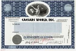 Caesars World, Inc. (Specimen ) - Las Vegas 1991