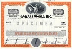 Caesars World, Inc. (12 1/2% bond certificate)  - Caesars Palace, Las Vegas 1983