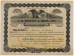 C. B. Hewitt & Bros., Inc. - New York 1926