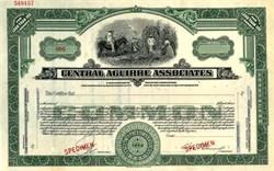Central Aguirre Associates - Massachusetts / Puerto Rico - 1928