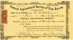 Central Agricultural Society of New Jersey - Trenton, New Jersey 1867