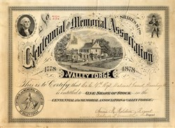 Centennial and Memorial Association of Valley Forge - Pennsylvania