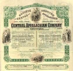 Central Appalachian Company - Bell County, Kentucky 1892