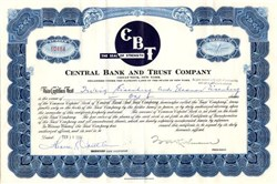 Central Bank and Trust Company - Great Neck, New York 1958