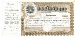 Central Electric Company - New Jersey 1903