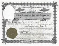 Celtic Extension Arizona Copper Co. - Arizona 1917