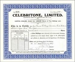 Celebritone, Limited 1929