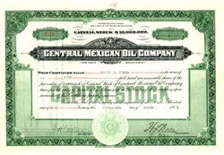 Central Mexican Oil Company - Delaware 1921