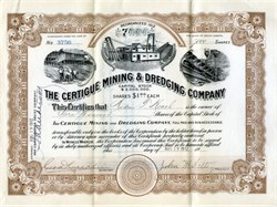 Certigue Mining & Dredging Company - South Dakota 1912