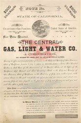 Central Gas, Light & Water Co. 1892 - San Francisco, California