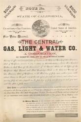 Central Gas, Light & Water Co. 1892 - San Francisco, California