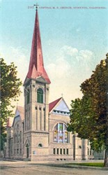 Central M.E. Church, Stockton, California Postcard