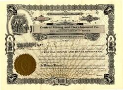 Central Mining and Development Company 1907 - Arizona - Mining Scam
