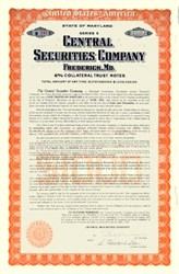 Central Securities Company 1930 - Payable in Gold Coin