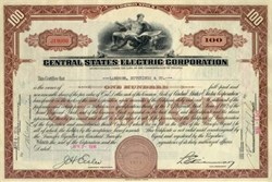 Central States Electric Corporation 1936