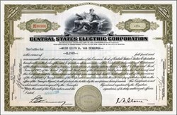 Central States Electric Corporation 1930's