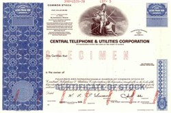 Central Telephone & Utilities Corporation ( Early Centel )