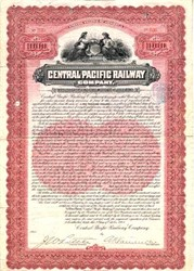 Central Pacific Railway - Gold Bond - 1904