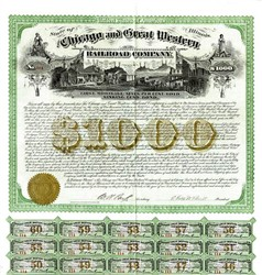 Chicago and Great Western Railroad Company - Illinois 1872
