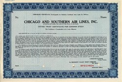 Chicago and Southern Air Lines, Inc. - Delaware 1940