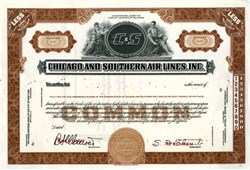 Chicago and Southern Air Lines, Inc.  - Merged with Delta Airlines - 1940's