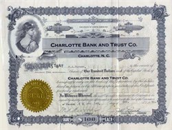 Charlotte Bank and Trust Company 1920's