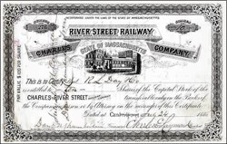 Charles River Street Railway Company 1886 - Massachusettes